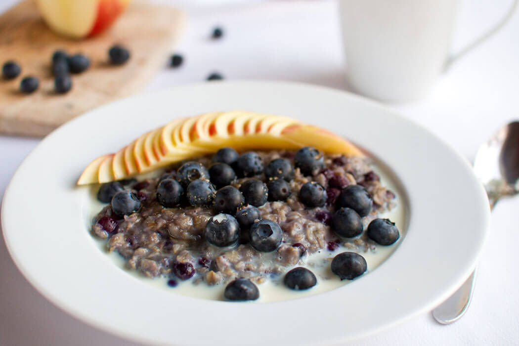 Blueberry Oatmeal - Food Photography by Amanda Mathson
