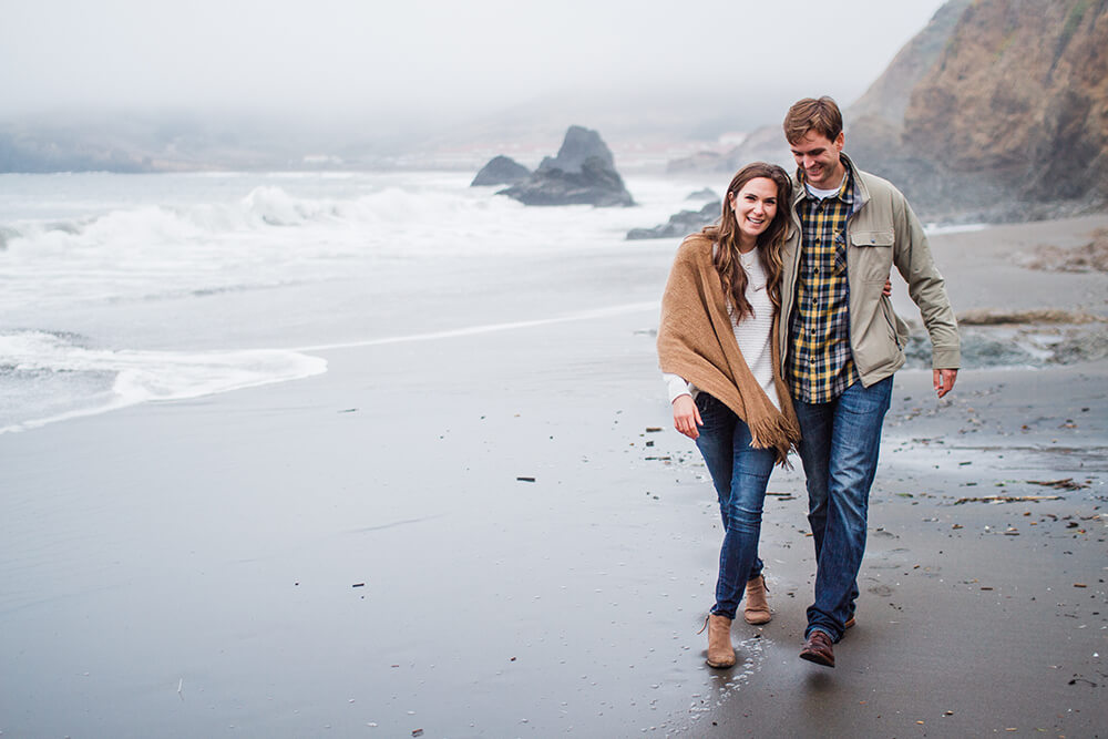 Marin Headlands Engagement | Amanda Mathson Photography