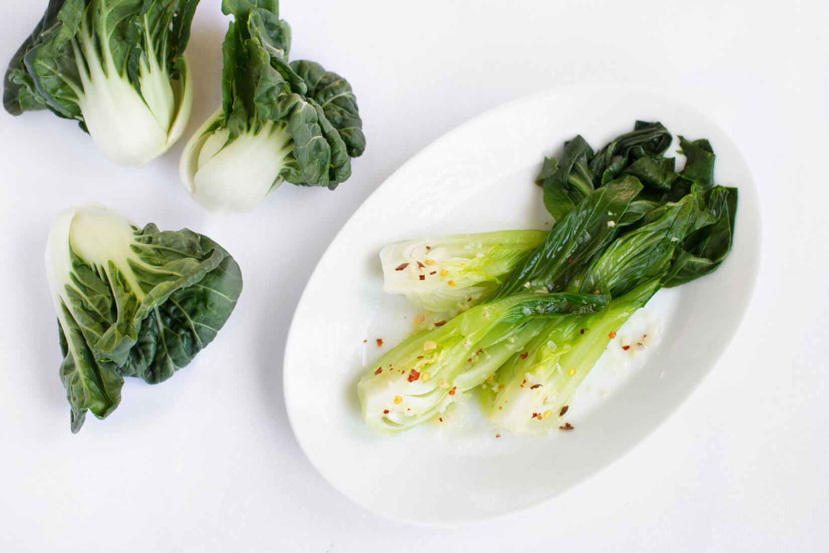 Steamed Bok Choy with Lemon and Chili-2000